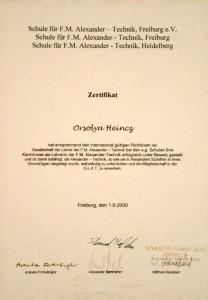 Heincz Orsolya Alexander-technika tanári diploma